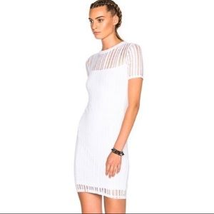 NWT T by Alexander Wang textured dress white M
